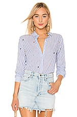 Rails Taylor Button Down in Rainbow Embroidered Hearts