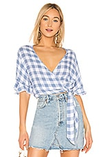 Rails Athena Top in Periwinkle Check