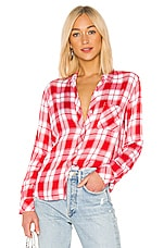 Rails Hunter Button Down in Candy Apple & White