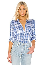 Rails Hunter Button Down in Blue Jay, White & Pink