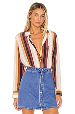 Rails Kate Silk Blouse in Valencia Stripe