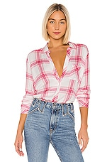 Rails Breast Cancer Awareness Hunter Button Down in Warrior Pink