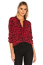 Rails Lillian Button Down in Red Leopard