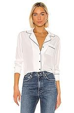 Rails Amara Silk Blouse in White