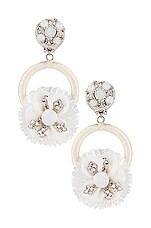 Ranjana Khan Crystal Flower Earring in White