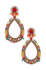 Ranjana Khan Fiesta Teardrop Earring in Red