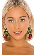 Ranjana Khan Les Framboises Earring in Red & Green