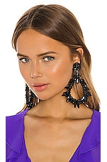 Ranjana Khan Teardrop Statement Earring in Black