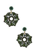 Ranjana Khan Berenike Earrings in Green