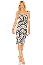 Raquel Allegra x REVOLVE Layering Tank Dress in Charcoal Tie Dye