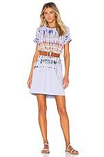 Raquel Allegra x REVOLVE T Shirt Dress in Rainbow Tie Dye