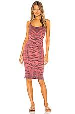 Raquel Allegra X REVOLVE Tank Dress in Fire Tie Dye