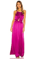 Raquel Allegra Keyhole Dress in Dahlia