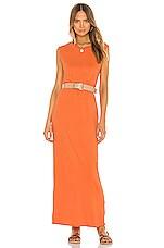 Raquel Allegra Muscle Maxi Dress in Orange
