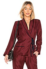 Raquel Allegra Wrap Blazer in Crimson