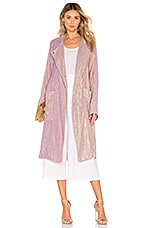 Raquel Allegra Cropped Trench in Lilac