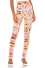 Raquel Allegra Legging in Pink Eclipse Tie Dye