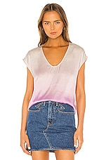 Raquel Allegra Perfect Shell Top in Orchid Tie Dye