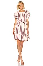 RAVN Bambina Dress in Pink Stripe