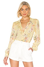 RAVN Ai Blouse in Yellow Flower