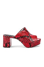 RAYE Club Heel in Red Snake