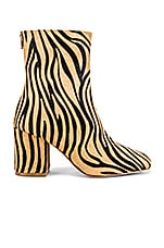 RAYE City Bootie in Tan Zebra