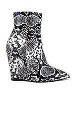 RAYE Cage Bootie in Black & White