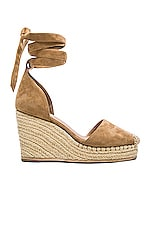 Dahlia Espadrille Wedge in Tan