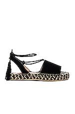 RAYE Devon Sandal in Black & Multi Weave