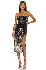 REVE RICHE Ilma Dress in Black Gold Degrade