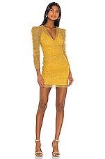 Rêve Riche Yala Dress in Cardinal Yellow