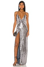 REVE RICHE Ayna Dress in Stone Silver