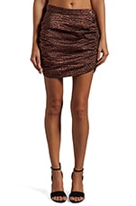 Mason Flash Croc Metallic Skirt in Rose