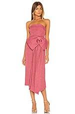 Rebecca Vallance Greta Bow Midi in Pink