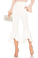 Rebecca Vallance St Barts Cropped Flare Pant in White