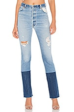 Levis High Rise Stovepipe in Destruction Blue