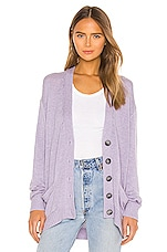 RE/DONE 90s Oversized Cardigan in Heather Lilac