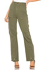 RE/DONE Originals High Rise Cargo Pant in Army Green