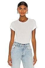RE/DONE 1960's Slim Tee Bodysuit in Optic White
