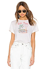 RE/DONE Aloha Classic Tee in Vintage White