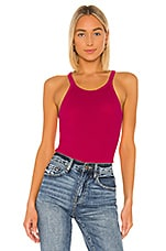 RE/DONE Ribbed Tank in Fuchsia