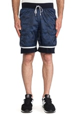 Camo Print Hybrid Short in Navy
