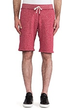 Sweatshort in Dark Cherry & Natural
