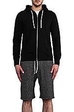 Reigning Champ Core Full-Zip Hoodie in Black