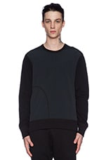 Crewneck in Black & Black
