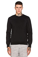 Heavyweight Side Zip Sweatshirt in Black