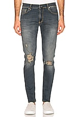 REPRESENT Destroyer Denim Jeans in Faded Blue
