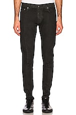 REPRESENT Essential Waxed Denim Jeans in Black