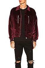 REPRESENT Collar Jacket in Wine