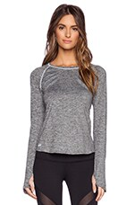 Stella Long Sleeve Top in Charcoal Mossed Heather